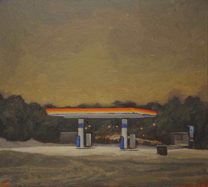 Katoava pimeys, öljyväri kankaalle 2018
